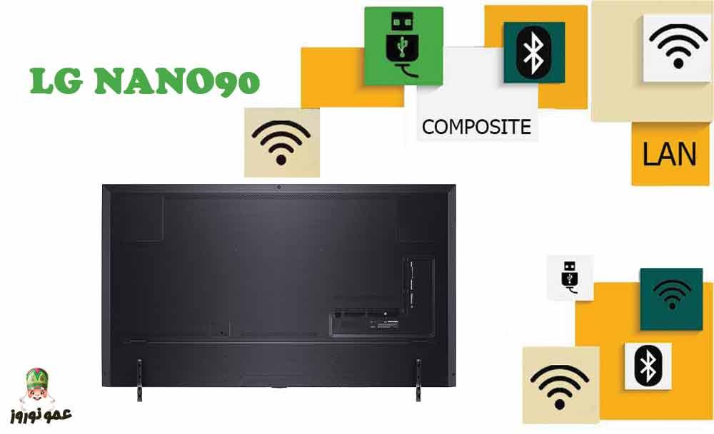 پورت های ارتباطی تلویزیون ال جی NANO90