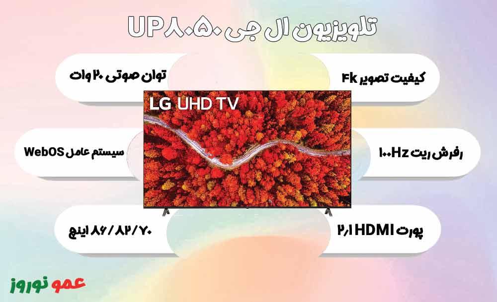 معرفی تلویزیون ال جی UP8050