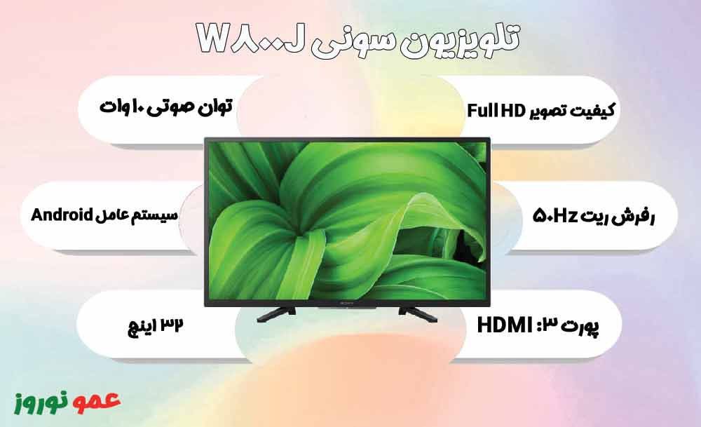 معرفی تلویزیون سونی W800J