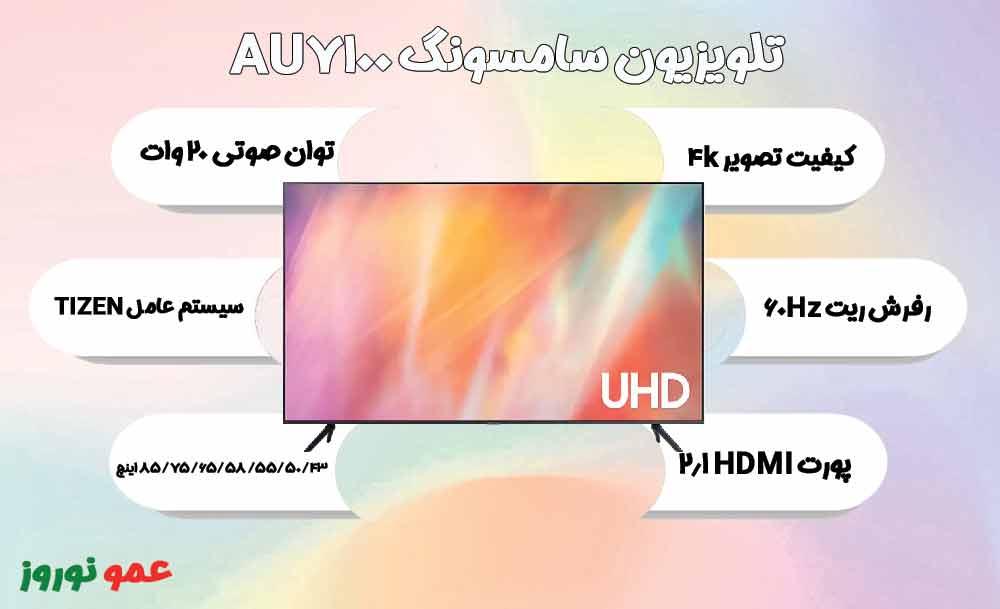 معرفی تلویزیون AU7100