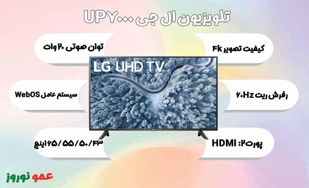 معرفی تلویزیون ال جی UP7000