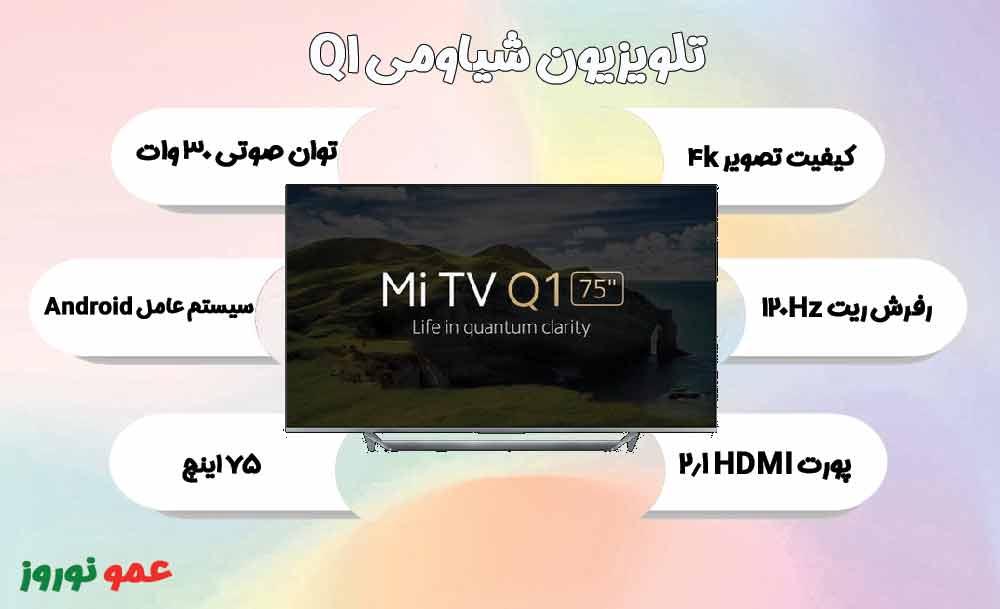 معرفی تلویزیون شیاومی Q1