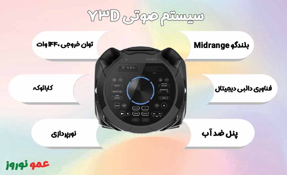 معرفی سیستم صوتی سونی V73
