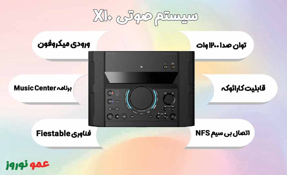 معرفی سیستم صوتی X10