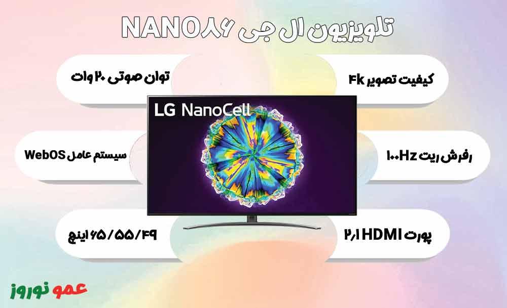 معرفی تلویزیون نانوسل ال جی NANO86