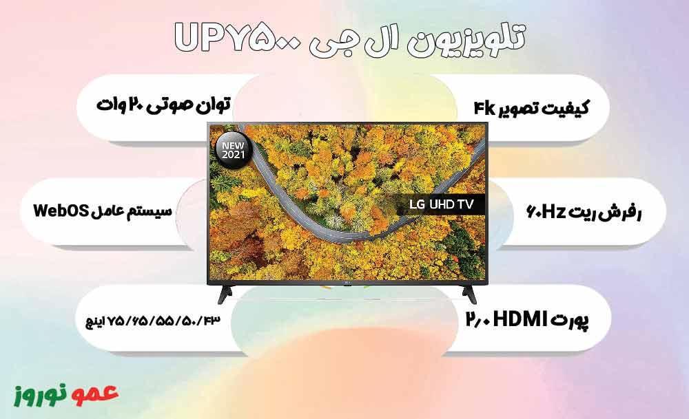 معرفی تلویزیون UP7500
