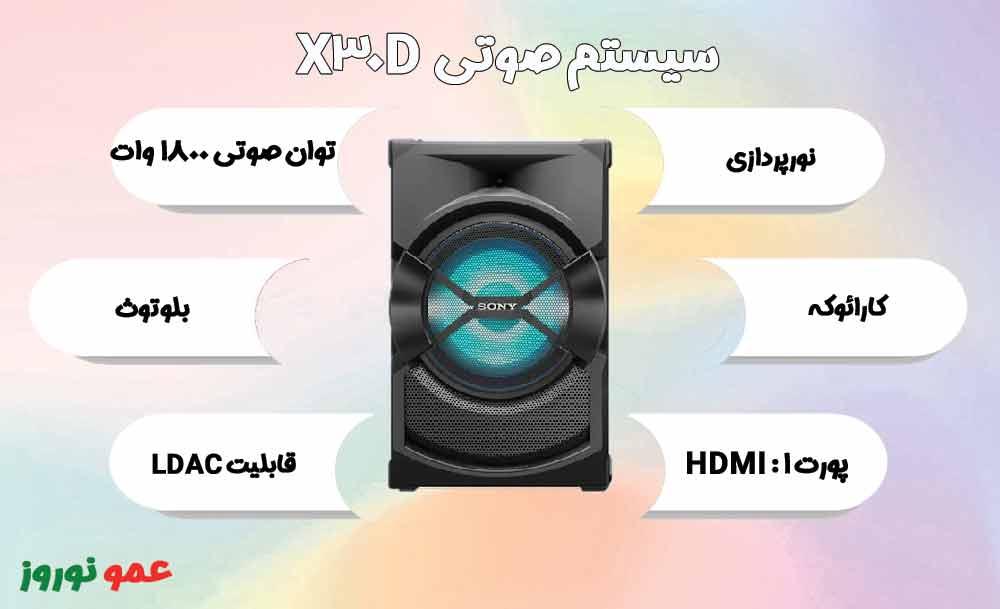 معرفی سیستم صوتی سونی X30