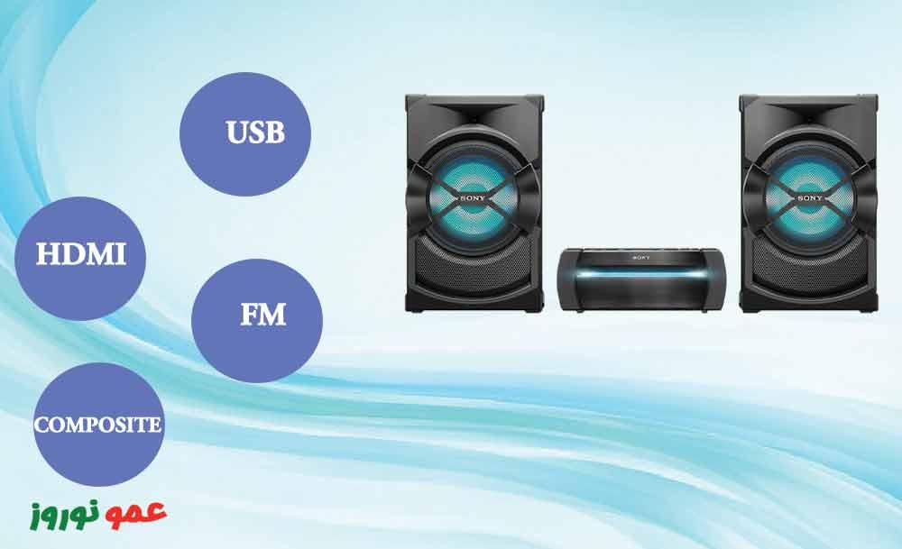 درگاه های سیستم صوتی