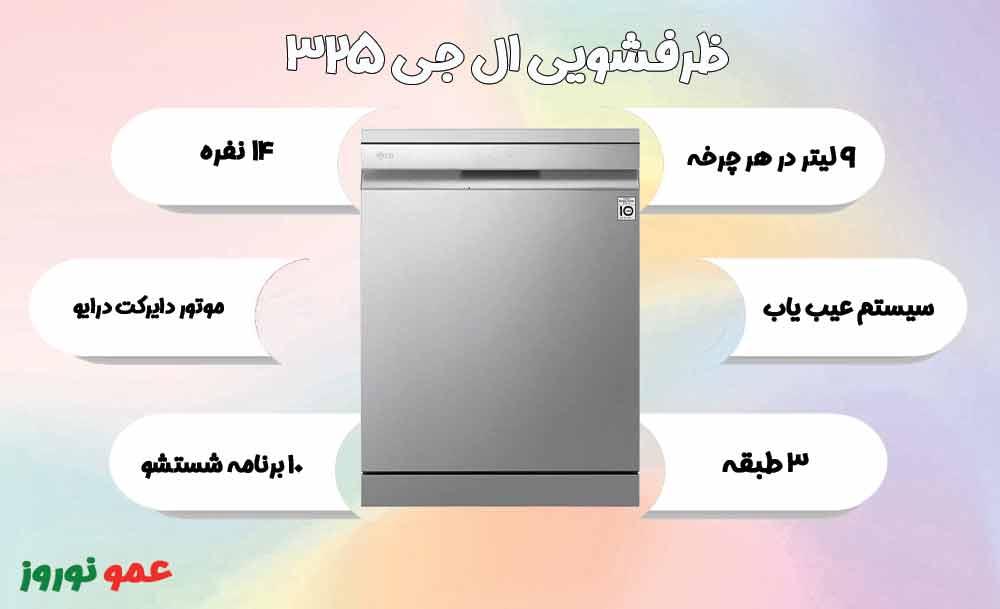 معرفی ماشین ظرفشویی ال جی 325