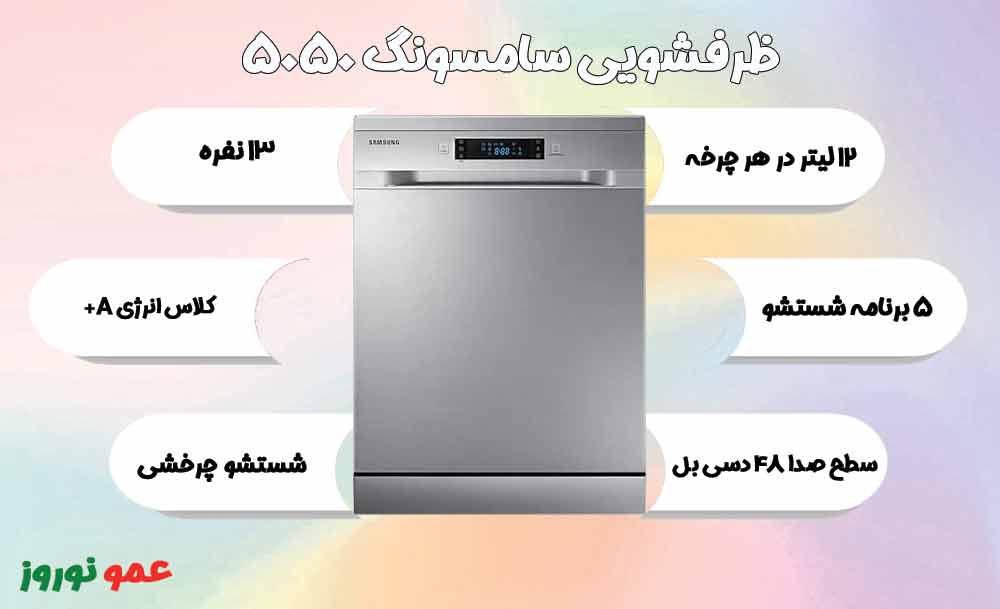 معرفی ماشین ظرفشویی سامسونگ 5050