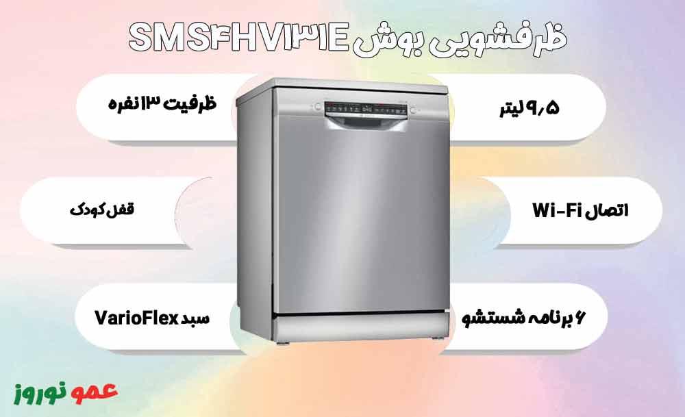 معرفی ماشین ظرفشویی بوش SMS4HV131E