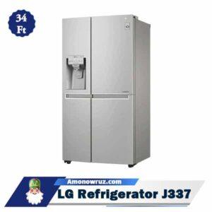 حاشیه یخچال فریزر ال جی J337