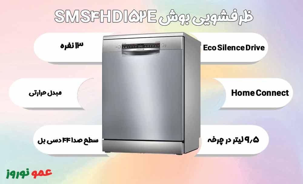 معرفی ماشین ظرفشویی بوش SMS4HDI52E
