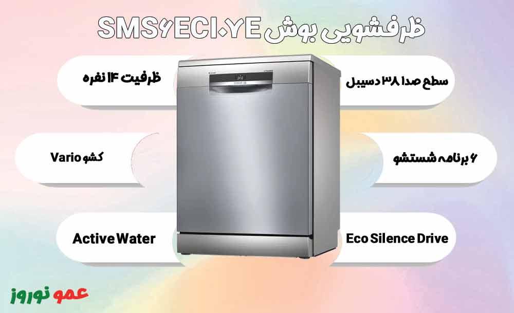 معرفی ماشین ظرفشویی بوش SMS6ECI07E