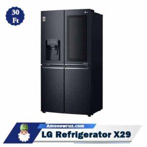 زاویه یخچال فریزر ال جی X29