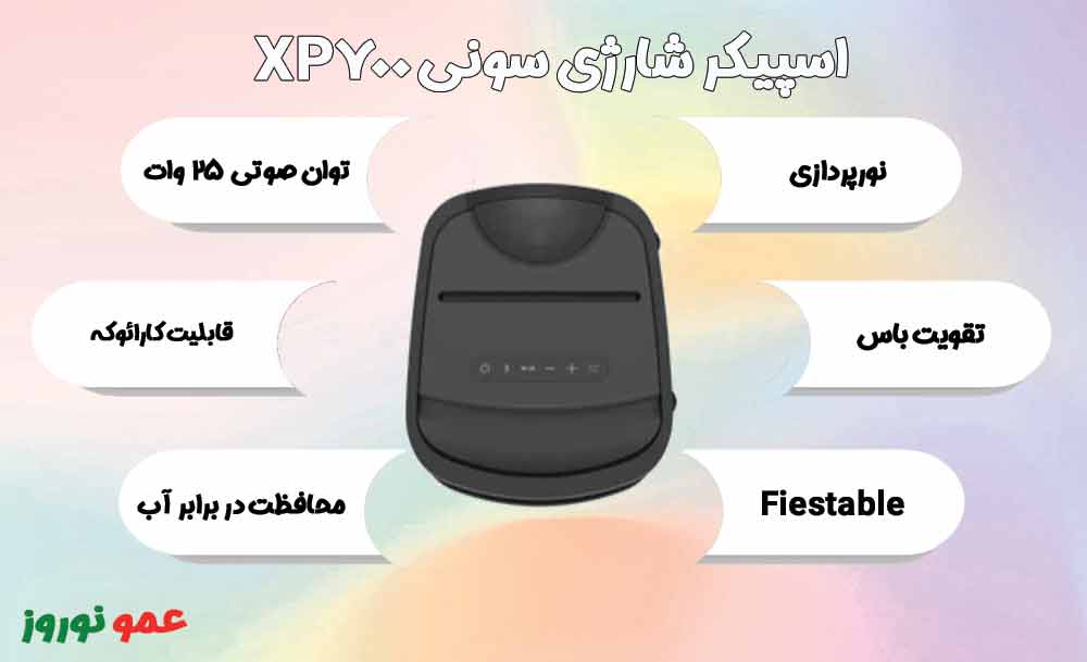 معرفی اسپیکر شارژی سونی XP700