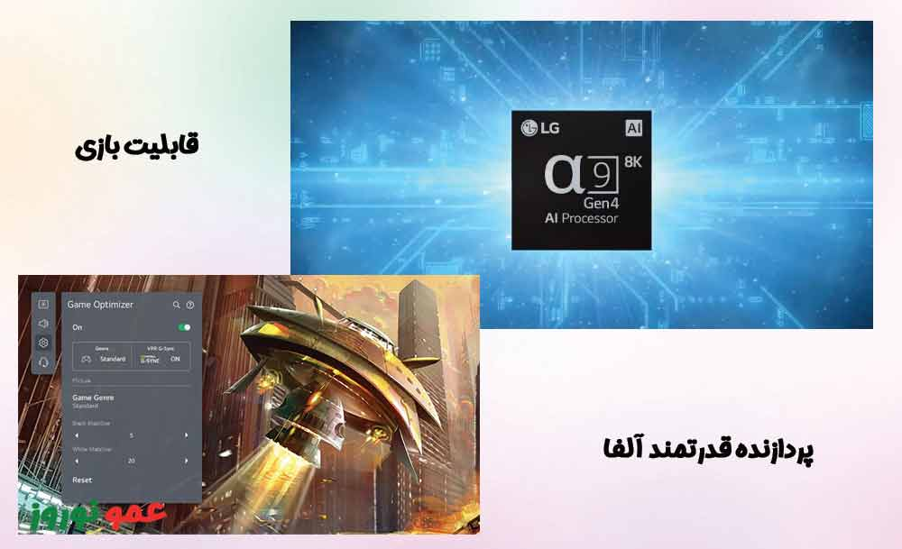 پردازنده  تلویزیون ال جی QNED95