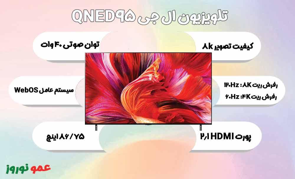 معرفی تلویزیون ال جی QNED95