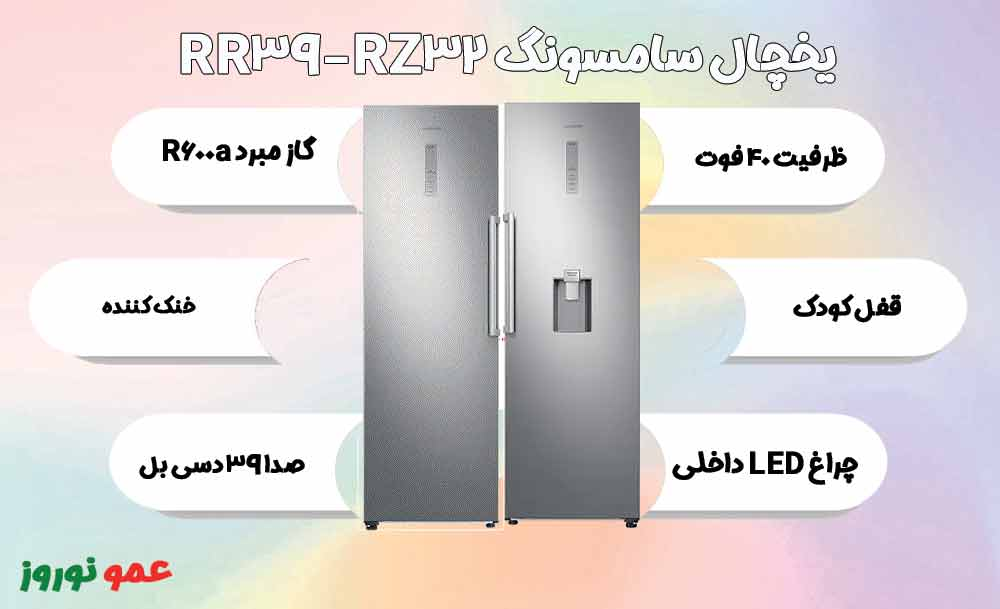 معرفی یخچال فریزر سامسونگ RR39-RZ32