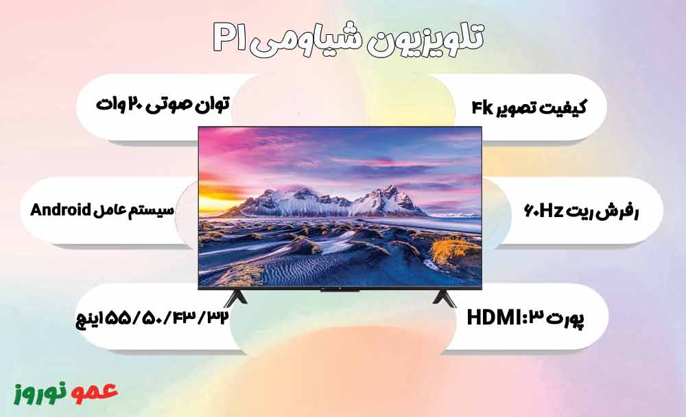 معرفی تلویزیون شیاومی P1