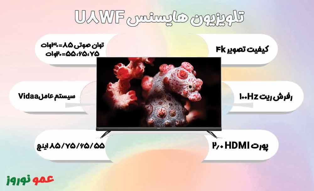 معرفی تلویزیون هایسنس U8WF