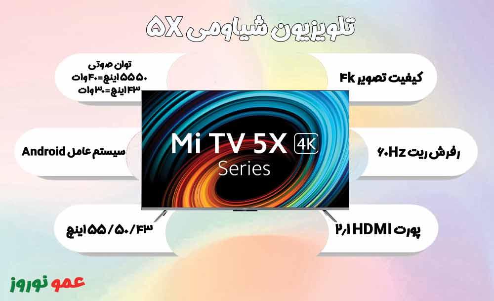 معرفی تلویزیون شیاومی 5X