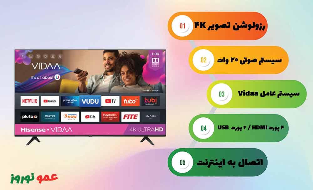 معرفی تلویزیون هایسنس A61G