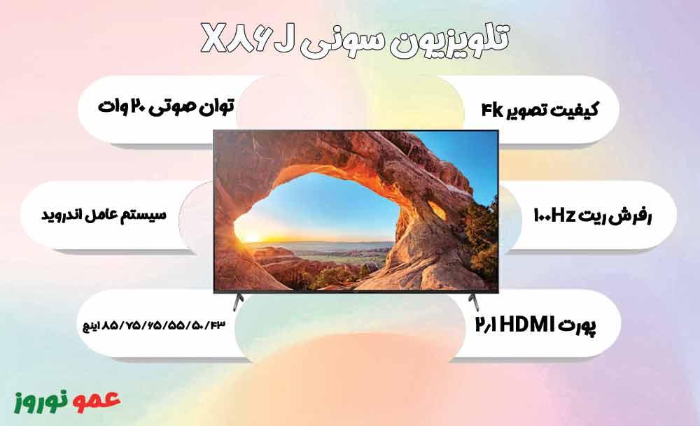 تصویر اصلی تلویزیون سونی X86J